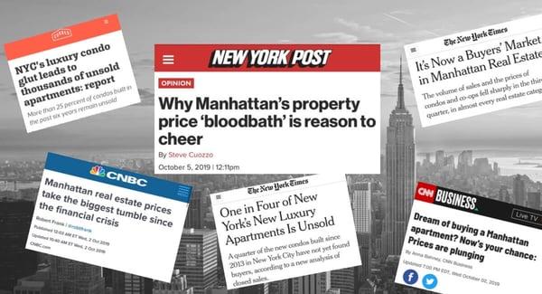 Rallentamento del mercato dei prezzi dei condomini di Manhattan