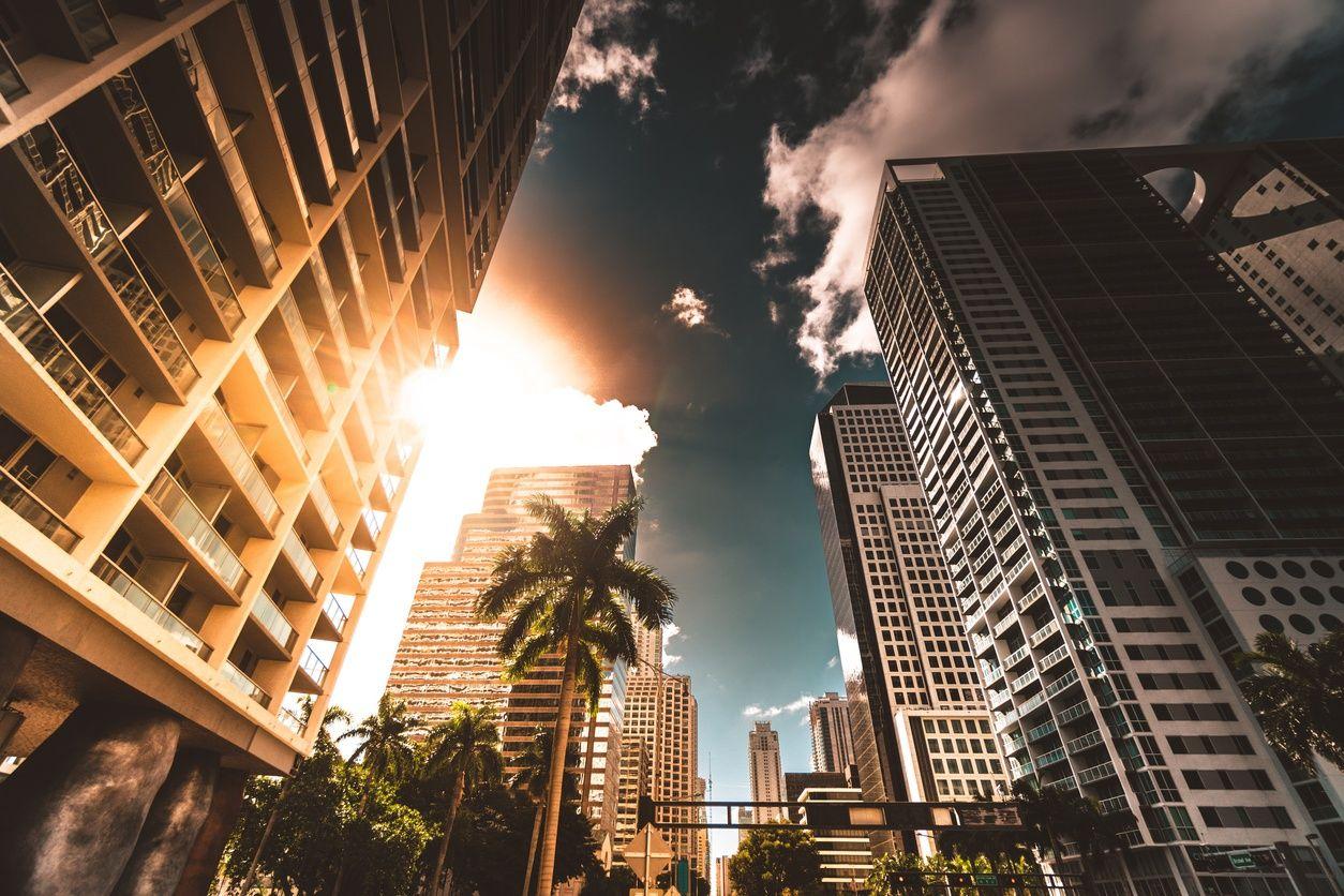edifici di appartamenti di alto livello in downtown miami